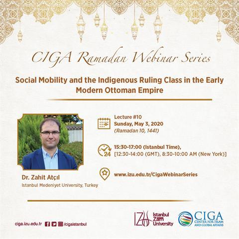 CIGA Ramadan Webinar Series - Lecture #10