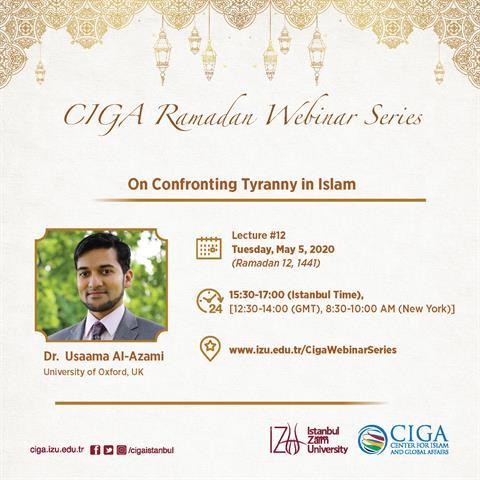 CIGA Ramadan Webinar Series - Lecture #12
