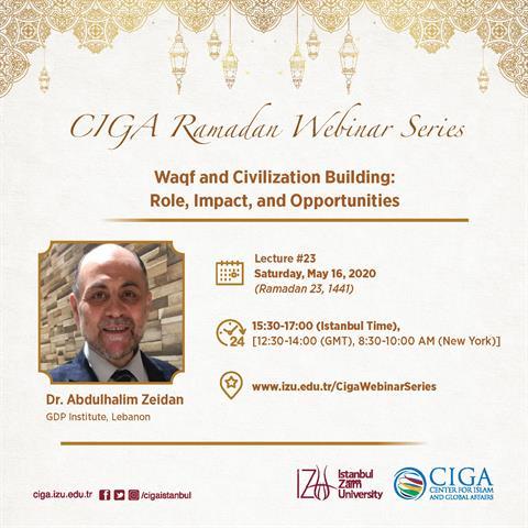 CIGA Ramadan Webinar Series - Lecture #23