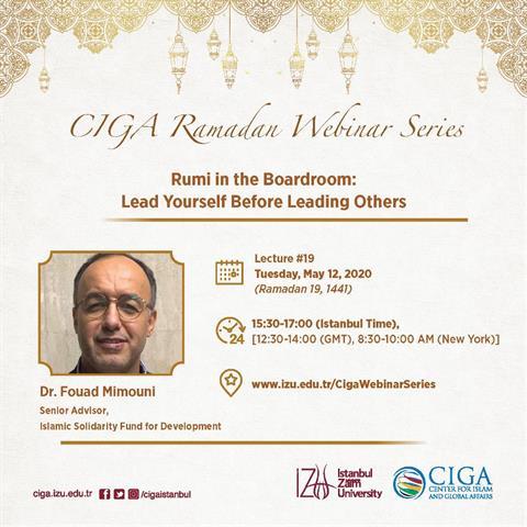 CIGA Ramadan Webinar Series - Lecture #19