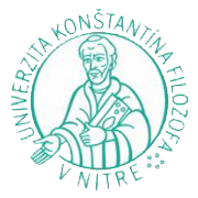 Constantine The Philosopher University in Nitra logo